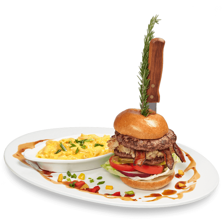 Hash House Famous Stuffed Burger